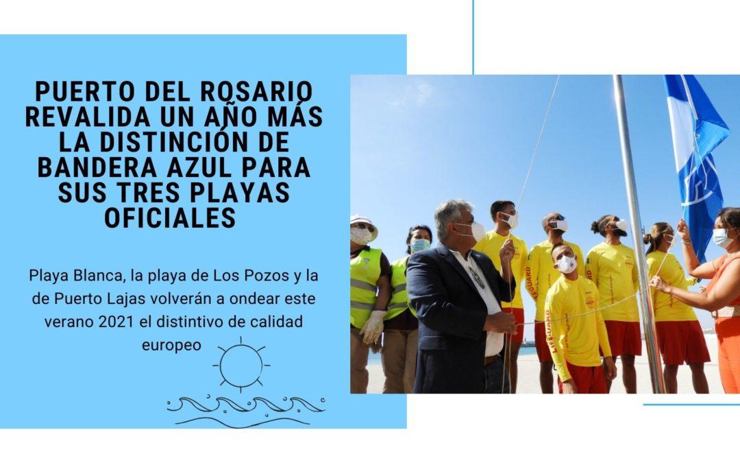 Puerto del Rosario revalida un año más la distinción de Bandera Azul para sus tres playas oficiales