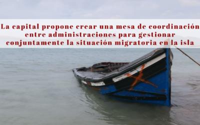 La capital propone crear una mesa de coordinación entre administraciones para gestionar conjuntamente la situación migratoria en la isla