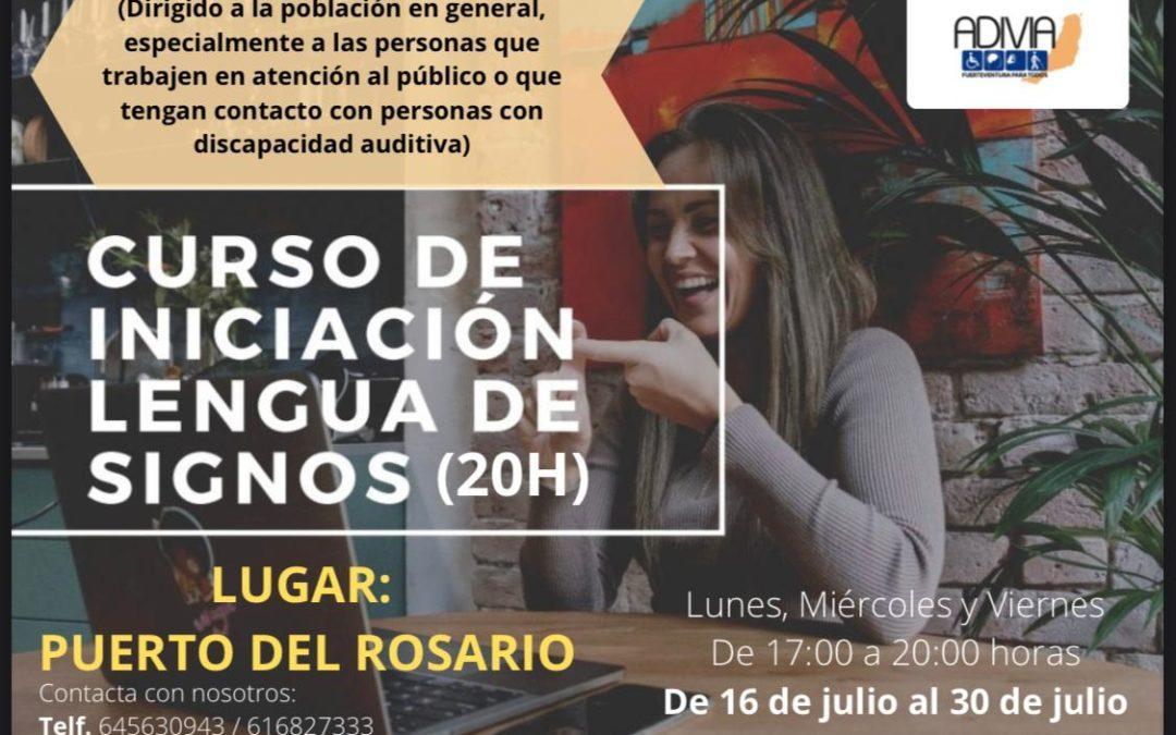 Puerto del Rosario y ADIVIA organizan un curso de iniciación a la Lengua de Signos Española
