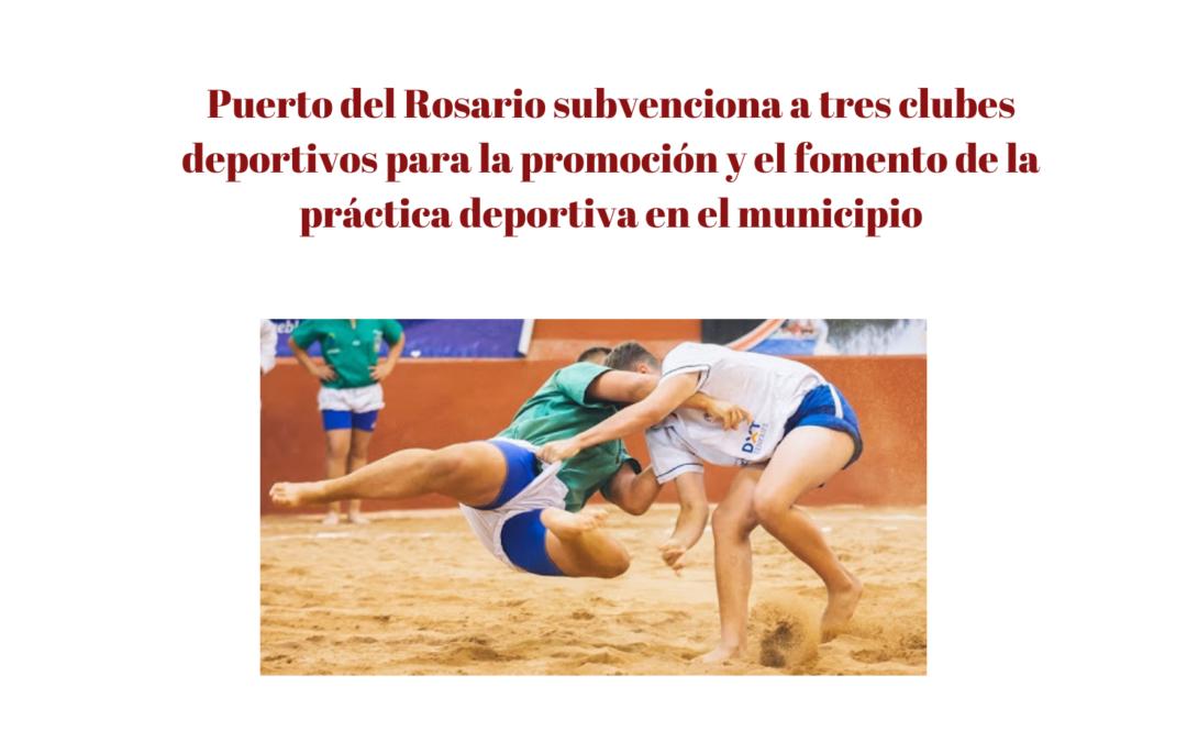 Puerto del Rosario subvenciona a tres clubes deportivos para la promoción y el fomento de la práctica deportiva en el municipio