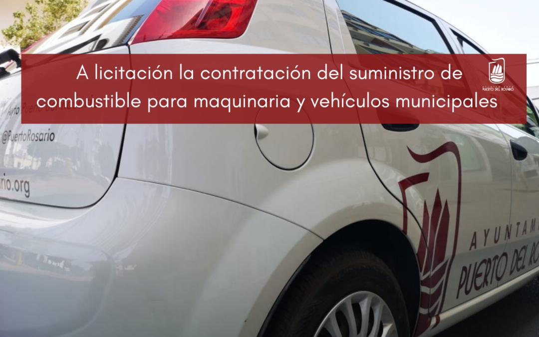 El Ayuntamiento licita la contratación del suministro de combustible para maquinaria y vehículos municipales