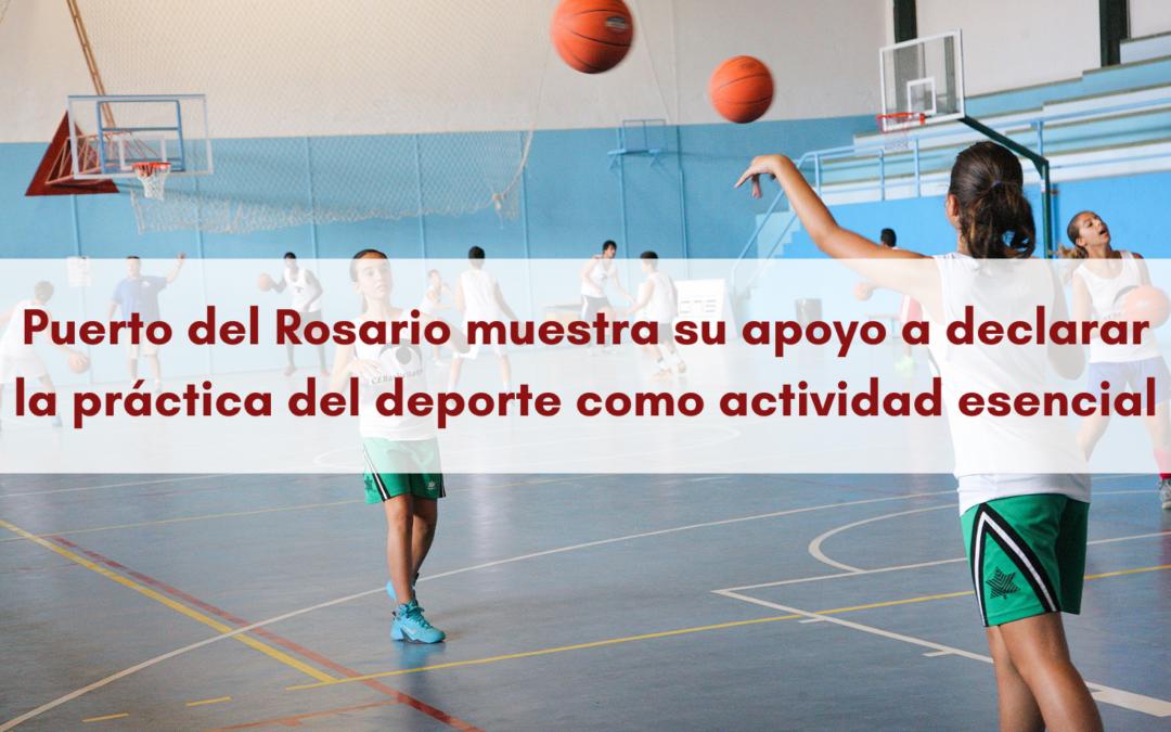 Puerto del Rosario muestra su apoyo a declarar la práctica del deporte como actividad esencial