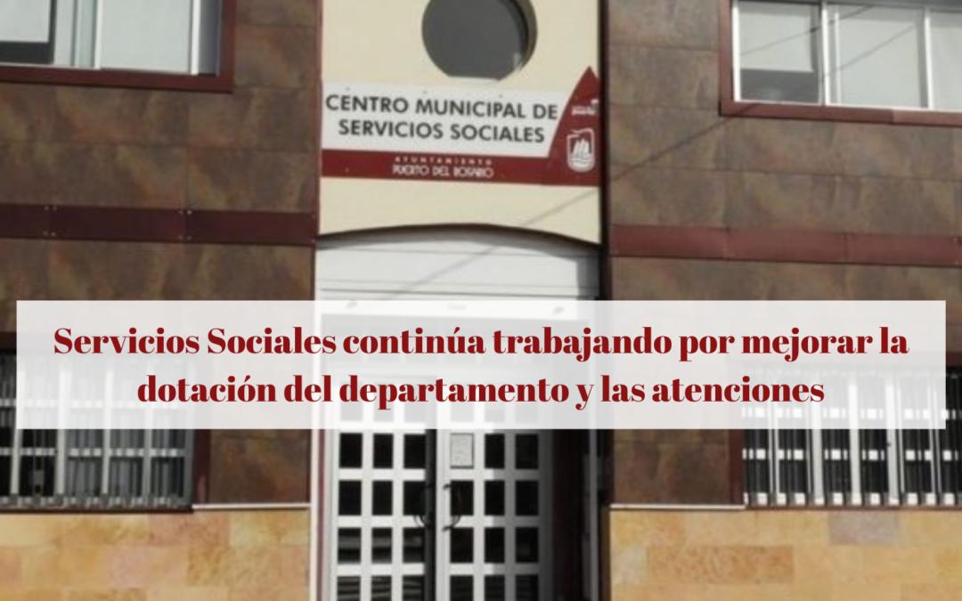 Servicios Sociales continúa trabajando por mejorar la dotación del departamento y las atenciones