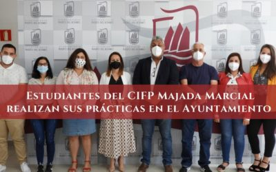Estudiantes del CIFP Majada Marcial realizan sus prácticas en el Ayuntamiento
