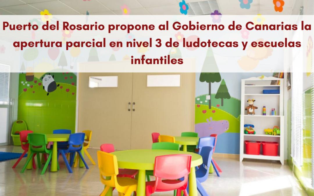 Puerto del Rosario propone al Gobierno de Canarias la apertura parcial en nivel 3 de ludotecas, parques y escuelas infantiles