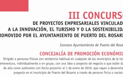 Continúa abierto el plazo para participar en el 'III Concurso de Ideas Empresariales' de Puerto del Rosario con premios de hasta 18.000 y 6.000 euros