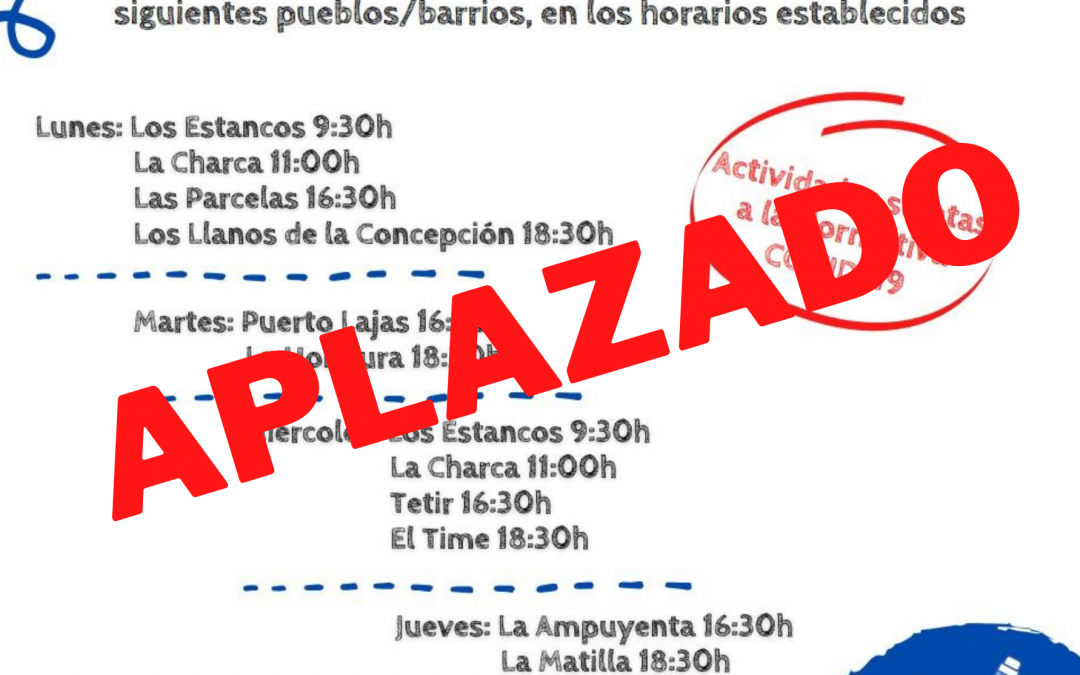 Puerto del Rosario aplaza el programa previsto de dinamización sociocultural y de mantenimiento