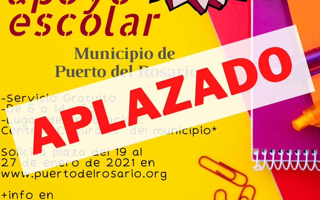 Puerto del Rosario suspende el proyecto de 'Apoyo Escolar' hasta la próxima revisión del nivel de alarma