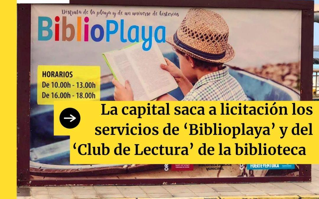 La capital saca a licitación los servicios de 'Biblioplaya' y del 'Club de Lectura' de la biblioteca municipal
