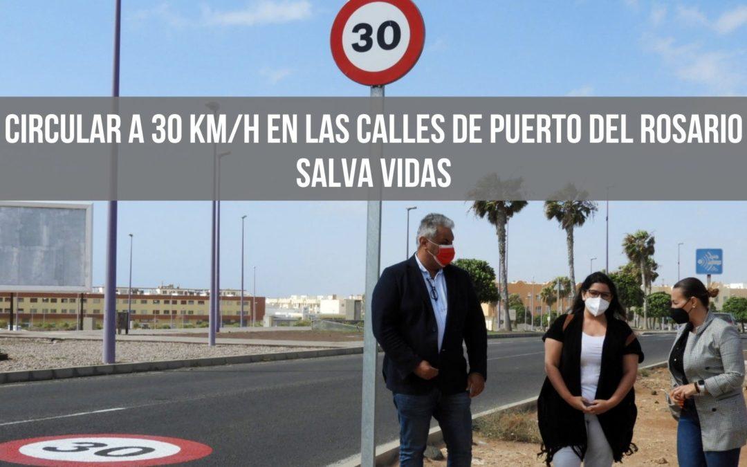 Circular a 30 km/h en las calles de Puerto del Rosario salva vidas