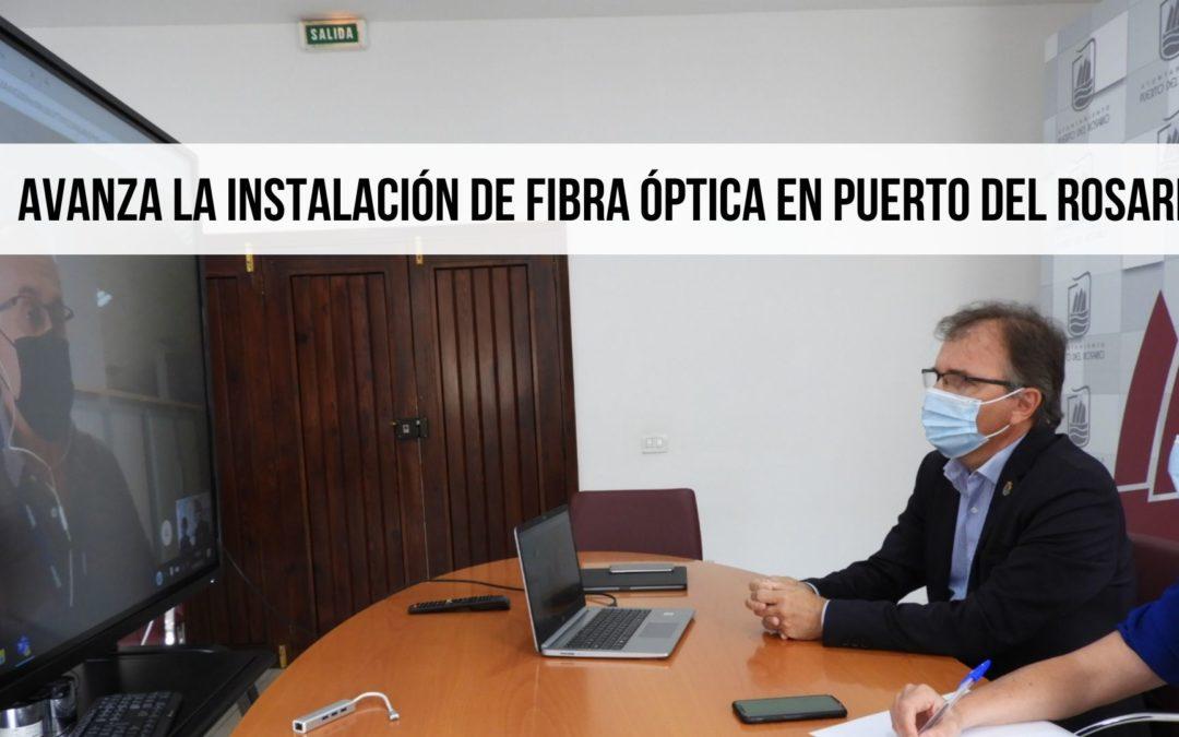 Avanza la instalación de fibra óptica en Puerto del Rosario