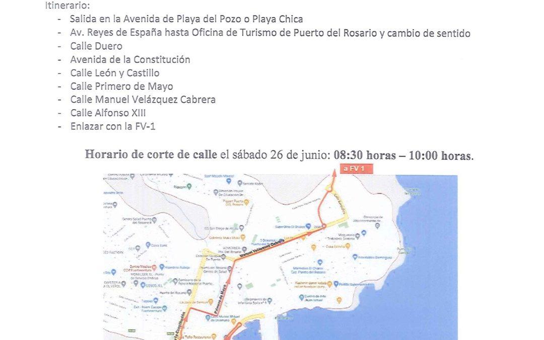 La capital será este sábado el punto de partida de la serpiente multicolor que formarán los más de 400 ciclistas de la prueba Faro Fuerteventura