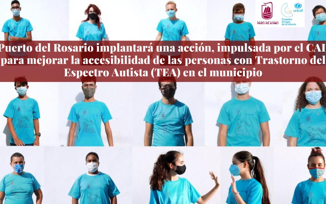Puerto del Rosario implantará una acción para mejorar la accesibilidad de las personas con Trastorno del Espectro Autista (TEA) en el municipio