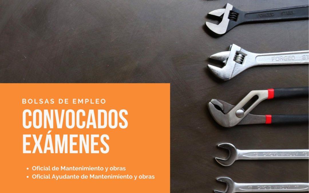 Convocados los exámenes para las bolsas de trabajo de Oficial Ayudante y Oficial de Mantenimiento y Obras en el Ayuntamiento capitalino