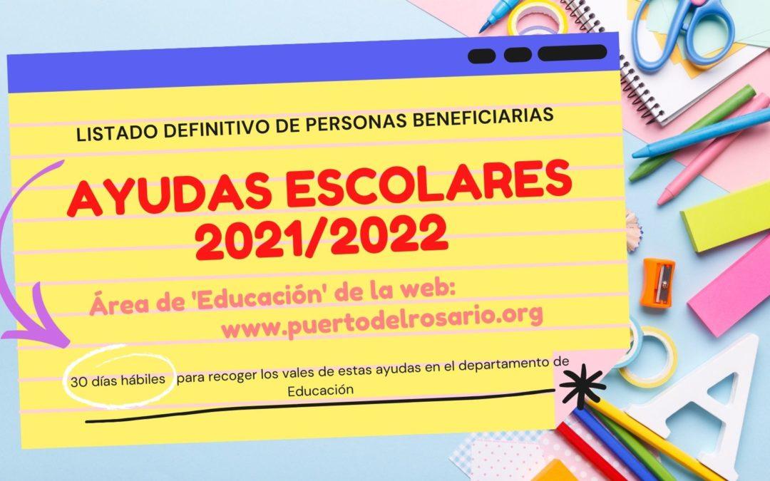 Puerto del Rosario publica la lista definitiva de las ayudas escolares 2021/2022