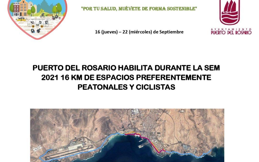 Puerto del Rosario se suma un año más a la Semana Europea de la Movilidad 2021, «Por tu salud, muévete de forma sostenible»