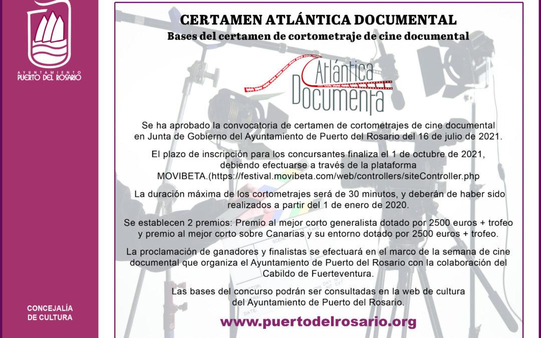 La capital abre el plazo para participar en el certamen de cortometrajes de cine documental 'Atlántica Documenta'