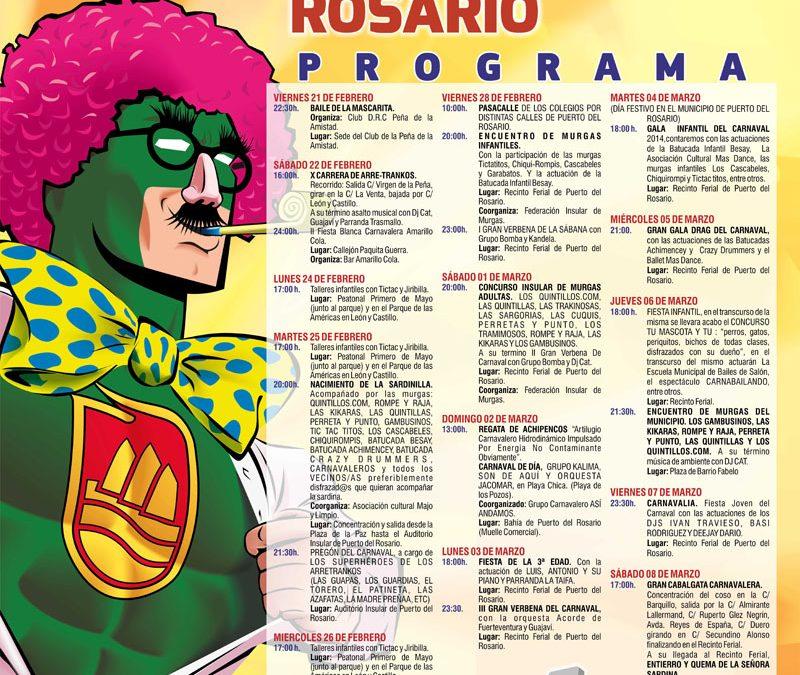 Adelanto del Programa de Carnaval 2014