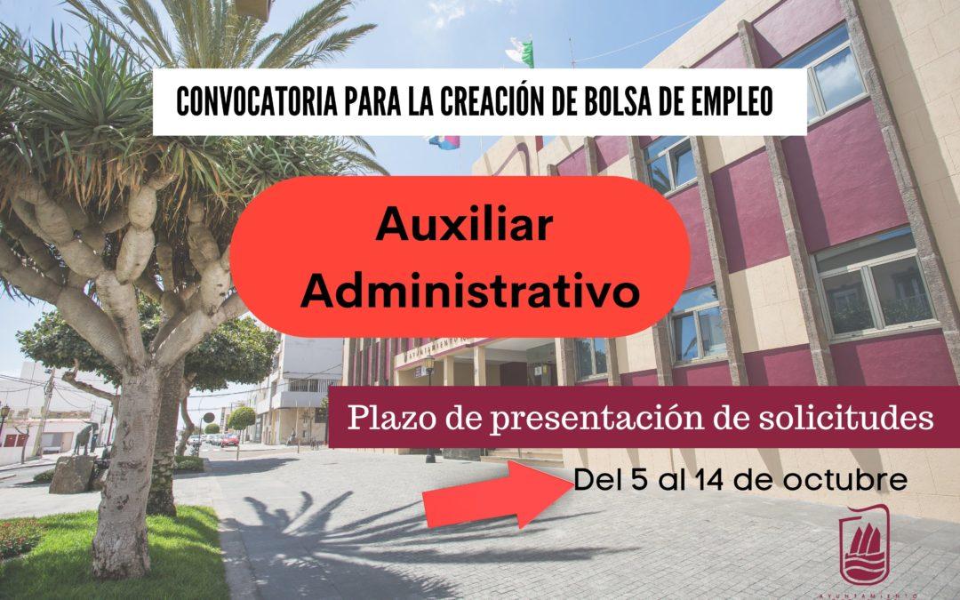 El Ayuntamiento capitalino convoca una Bolsa de Empleo de Auxiliar Administrativo