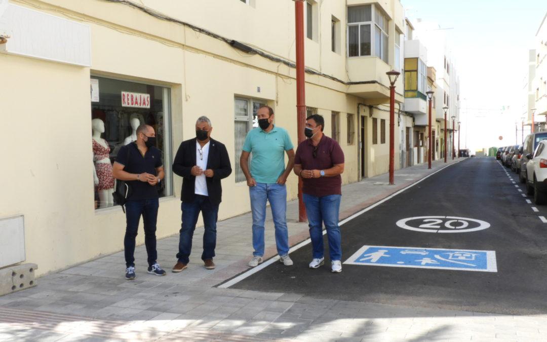 Renovadas varias calles del casco urbano tras las obras de mejora y de repavimentación acometidas