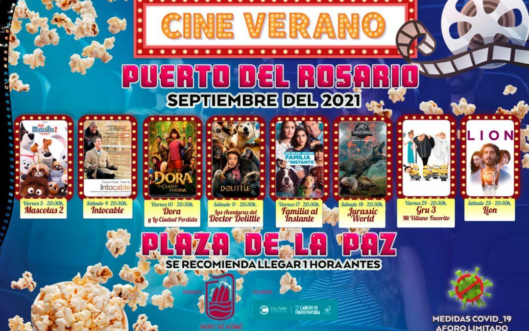 El cine de verano, protagonista cultural de los fines de semana de septiembre en Puerto del Rosario