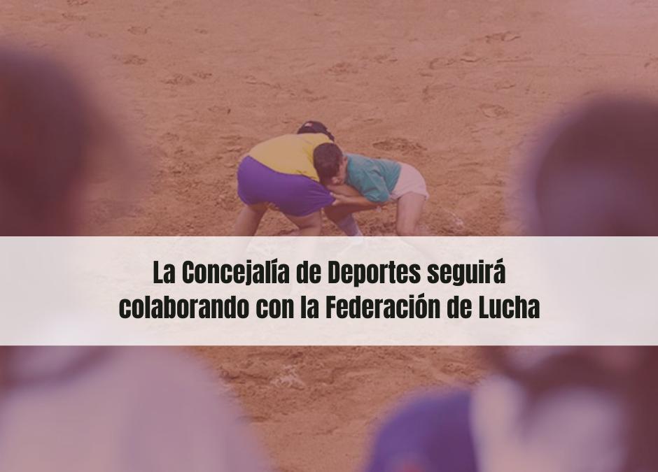 Puerto del Rosario seguirá colaborando con la Federación de Lucha Canaria de Fuerteventura