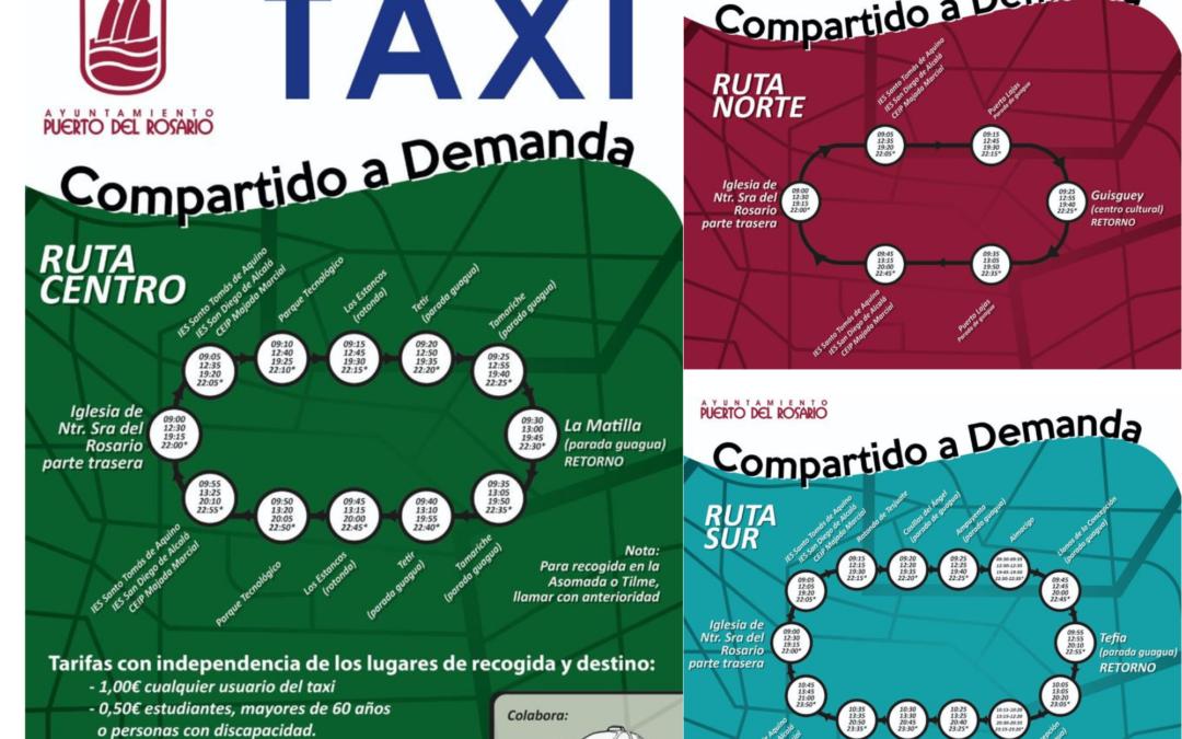 El servicio de Taxi Compartido de Puerto del Rosario retoma su horario de salida nocturno a las 22.00 horas