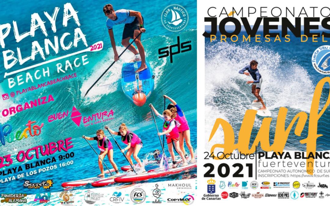 Las playas de la capital serán las protagonistas este fin de semana de dos grandes eventos deportivos acuáticos