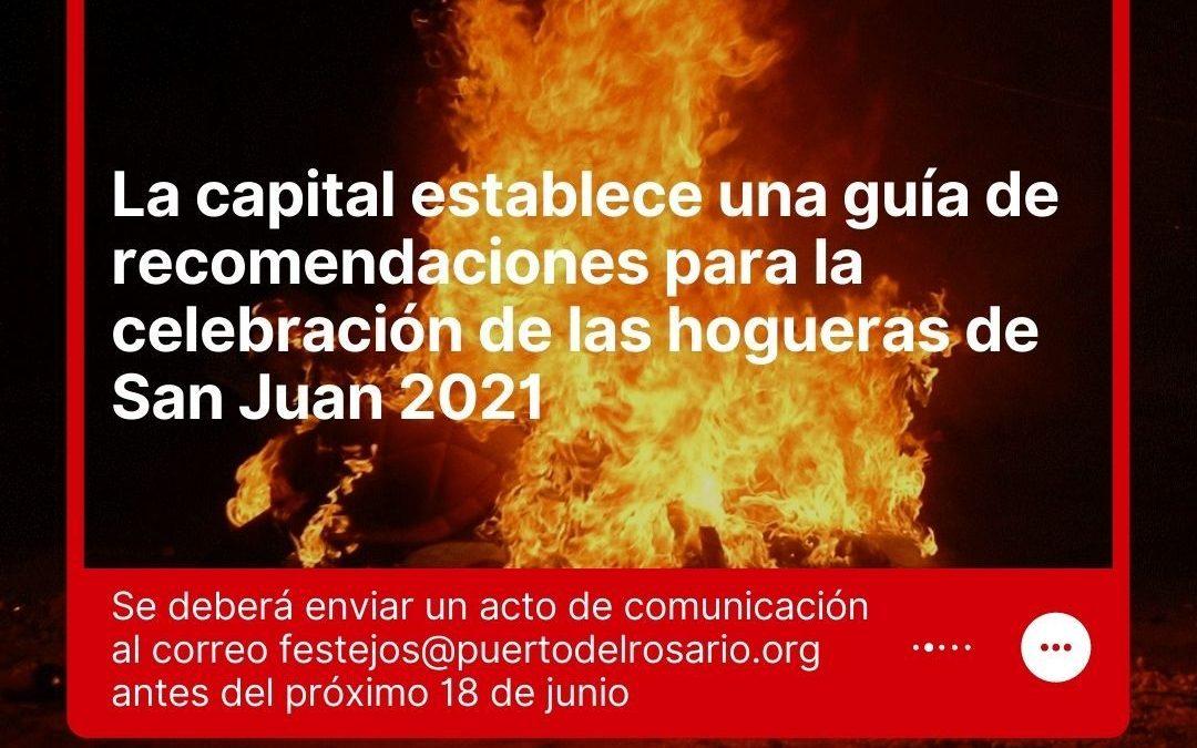La capital establece una guía de recomendaciones para la celebración de las hogueras de San Juan 2021