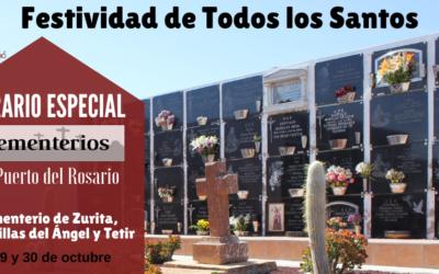 Los cementerios de Puerto del Rosario amplían el horario de visita con motivo de la festividad de Todos los Santos