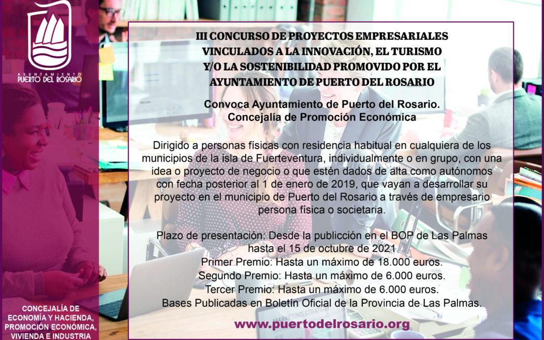 La capital abre el plazo para participar en el tercer concurso de proyectos empresariales con premios de hasta 18.000 y 6.000 euros