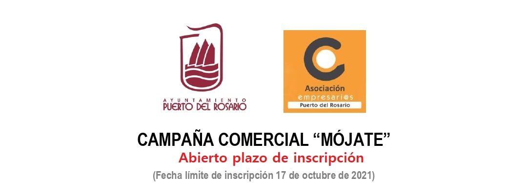 Abierto el plazo de inscripción para los comercios de Puerto del Rosario que quieran participar en la campaña 'MÓJATE' 2021