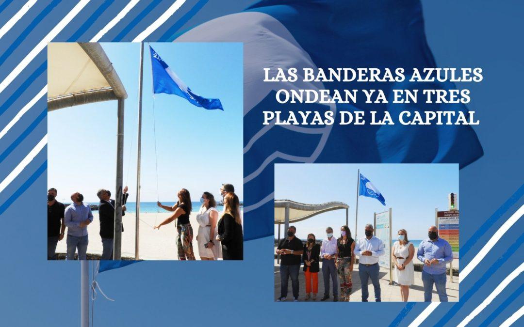 Las banderas azules, que premian la calidad del litoral, ondean ya en tres playas de la capital