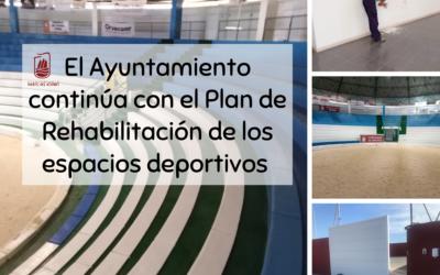 El Ayuntamiento continúa con el Plan de Rehabilitación de los espacios deportivos municipales