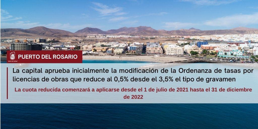 La capital aprueba inicialmente la modificación de la Ordenanza de tasas por licencias de obras que reduce al 0,5% desde el 3,5% el tipo de gravamen