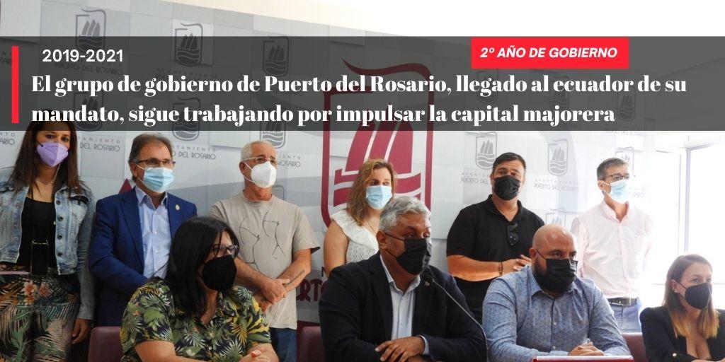 El grupo de gobierno de Puerto del Rosario, llegado al ecuador de su mandato, sigue trabajando por impulsar la capital majorera