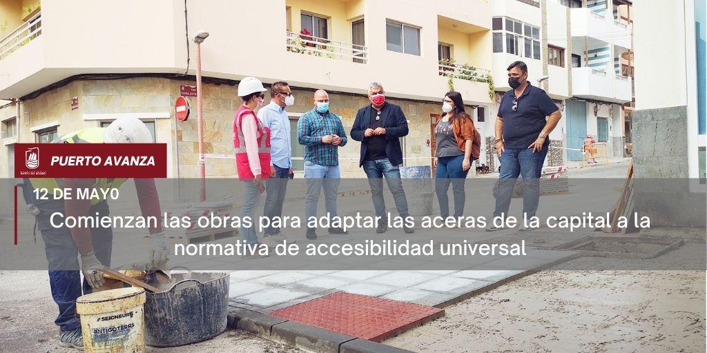 Comienzan las obras para adaptar las aceras de la capital a la normativa de accesibilidad universal