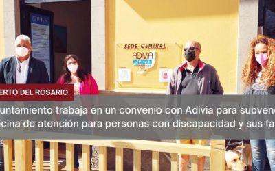 El Ayuntamiento trabaja en un convenio con Adivia para subvencionar la oficina de atención para personas con discapacidad y sus familias