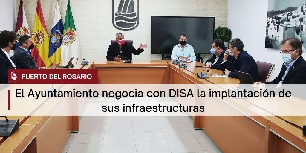 El Ayuntamiento de Puerto del Rosario negocia con DISA la implantación de sus infraestructuras