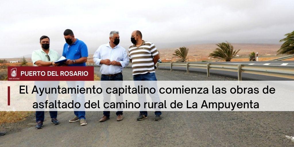 El Ayuntamiento capitalino comienza las obras de asfaltado del camino rural de La Ampuyenta