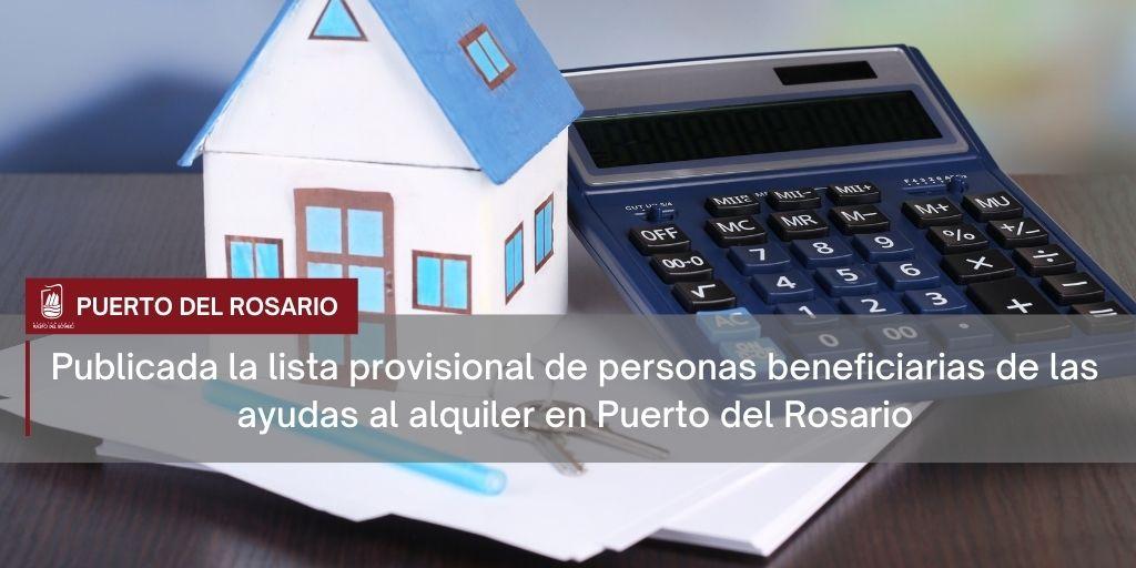Publicada la lista provisional de personas beneficiarias de las ayudas al alquiler en Puerto del Rosario