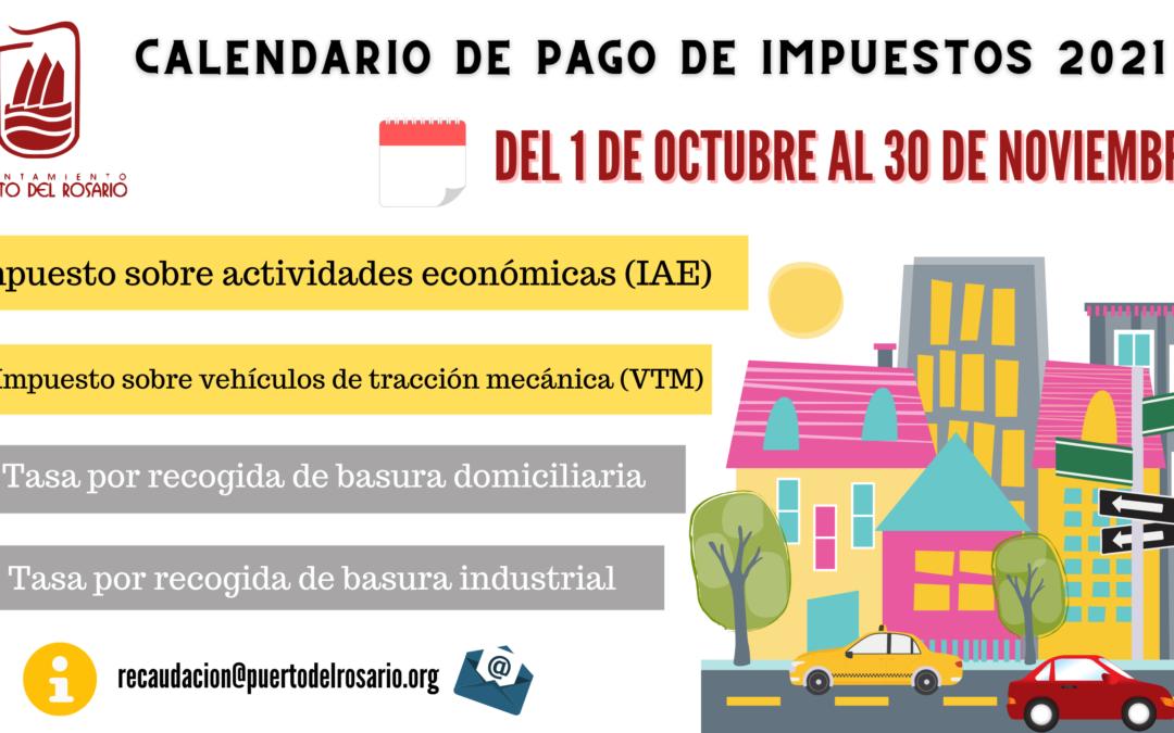 Puerto del Rosario abre este viernes el plazo para el pago voluntario de impuestos