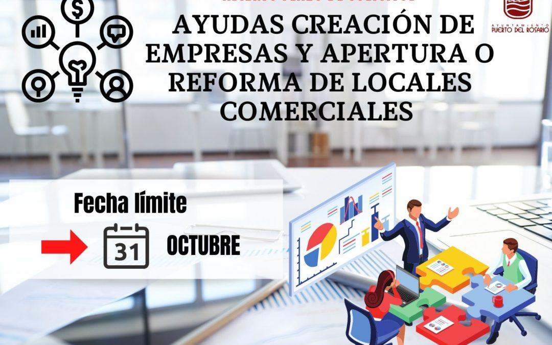 Las ayudas para la creación de empresas y apertura o reforma de locales comerciales en Puerto del Rosario pueden solicitarse aún hasta el 31 de octubre