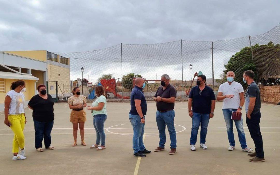 La cancha deportiva del pueblo de Tesjuate contará con un nuevo vallado
