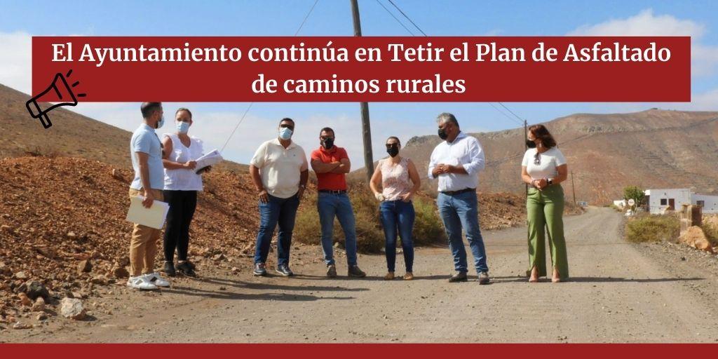 El Ayuntamiento continúa en Tetir el Plan de Asfaltado de caminos rurales