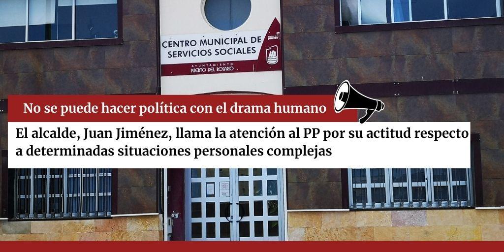 No se puede hacer política con el drama humano