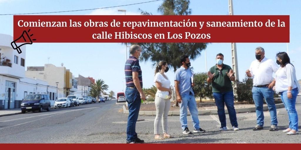 Comienzan las obras de repavimentación y saneamiento de la calle Hibiscos en Los Pozos