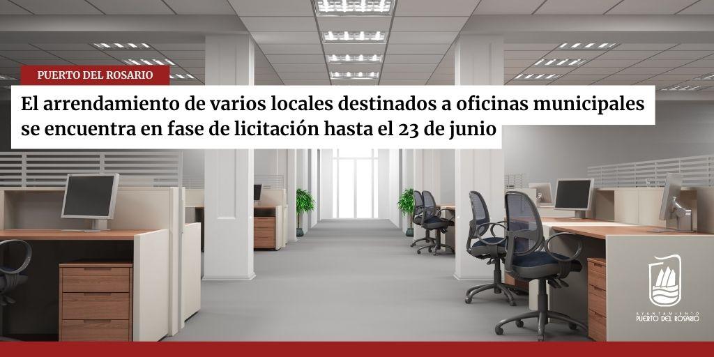 El arrendamiento de varios locales destinados a oficinas municipales se encuentra en fase de licitación hasta el 23 de junio