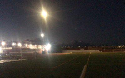 El Ayuntamiento suspende los entrenamientos en el Estadio de Risco Prieto a partir de las 19.30 horas por seguridad hasta restablecer el servicio de alumbrado
