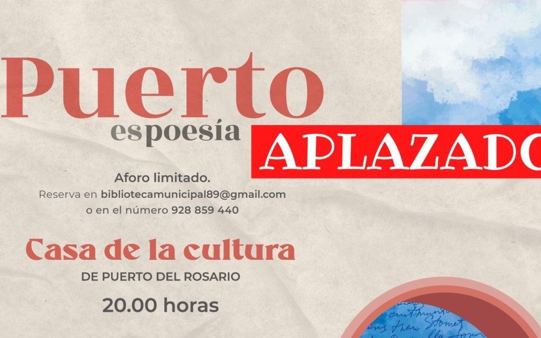 El festival 'Puerto es Poesía' se aplaza como medida preventiva tras el cambio a nivel 3 de alerta sanitaria